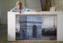 L'Arc de Triomphe empaqueté par le couple Christo et Jeanne Claude
